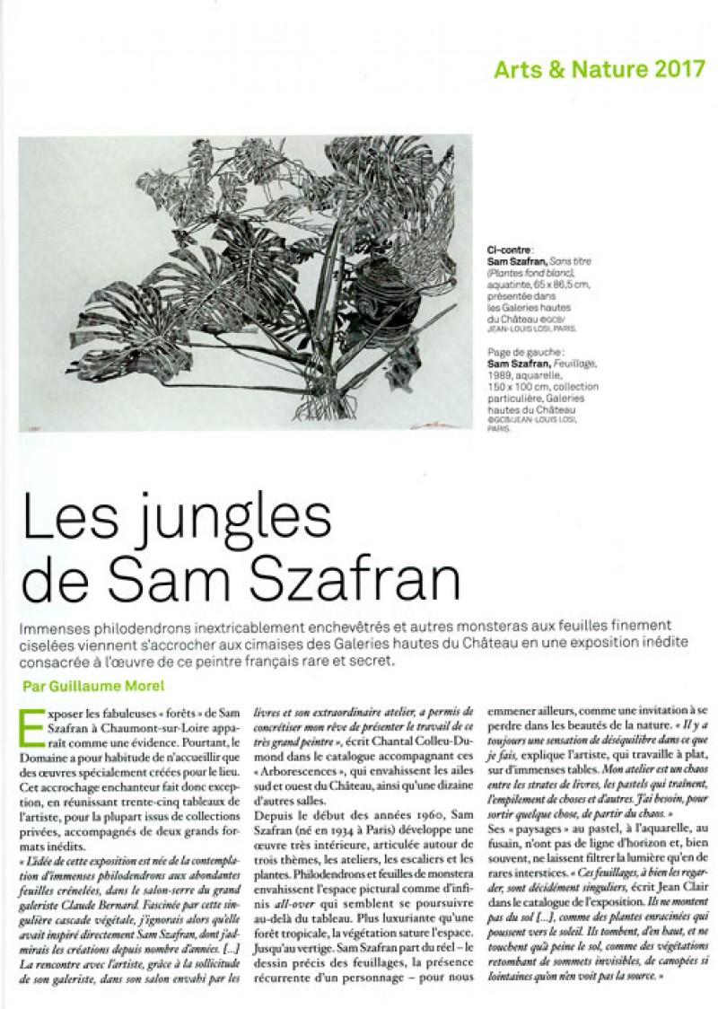 szafran connaissance des arts 2017 2